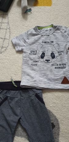 Zestaw spodenki  bluzka dres niechodki r.74