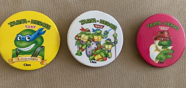 3 pins Badget Tartarugas Ninja 1991 Chex