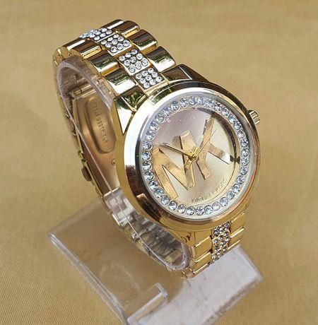 Zegarek MK Michael Kors damski gold cyrkonie WYJATKOWY