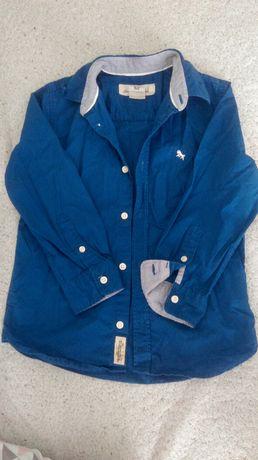 Koszula chłopięca niebieska 116cm