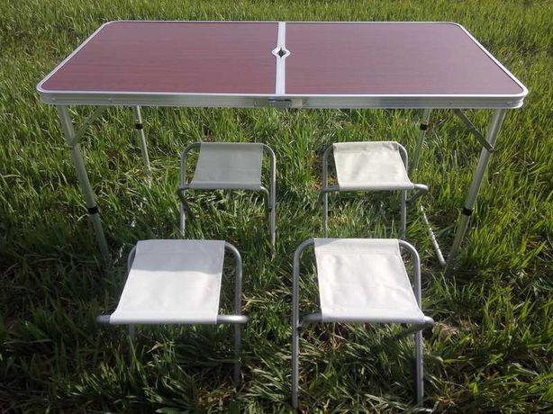Стол-чемодан+ 4 стула для природы сада