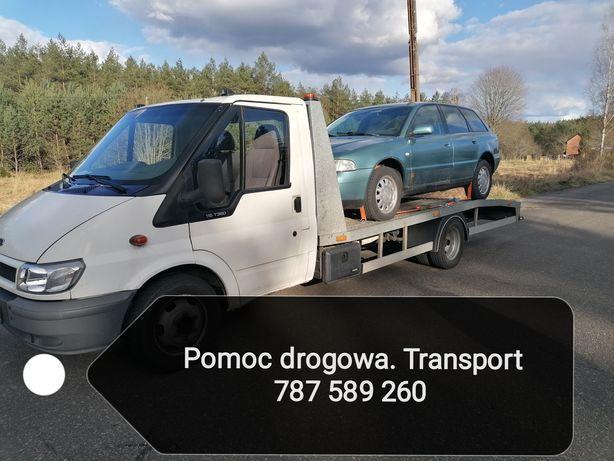 Pomoc drogowa transport autolaweta holowanie