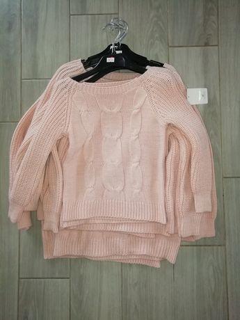 Rozowy sweterek 98/104