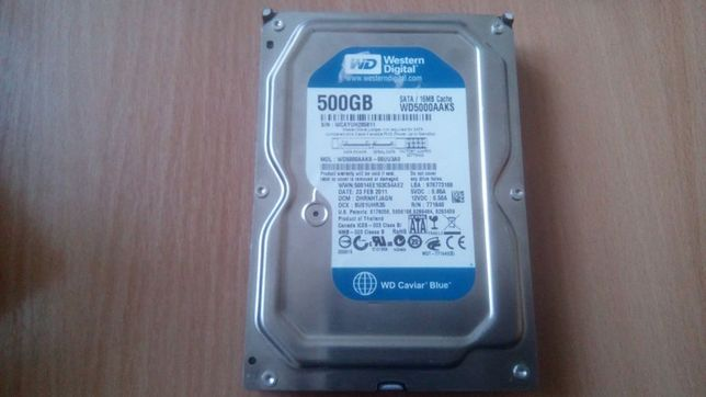 "Б/В 7 Жорсткий диск Western Digital 500GB 7200rpm 16MB 3.5"" SATAIII"