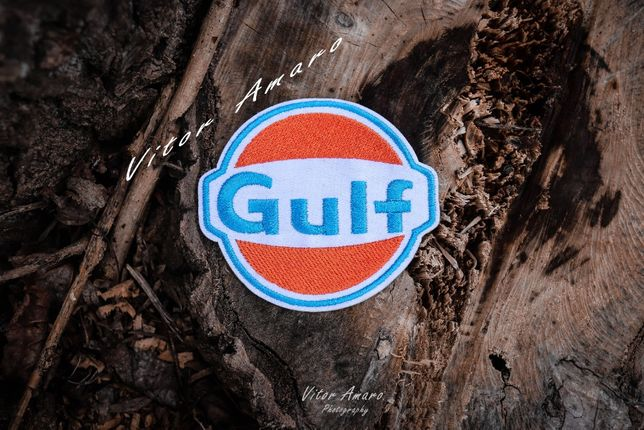 Simbolo/Logo Bordado Gulf|NOVO