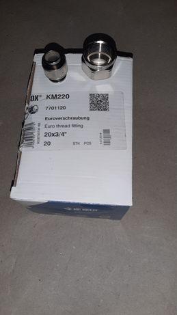 Śrubunek 20x3/4 do rur PEX, PE-RT - podłogówka, rozdzielacz