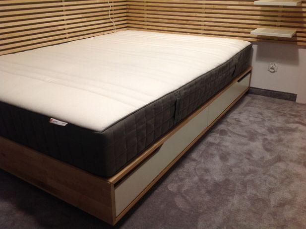 łóżko MANDAL 160x200 rama drewno 4-szuflady i stelaż w cenie IKEA