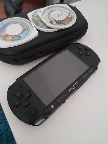 psp+1 jogo+ carregador original+ capa de transporte