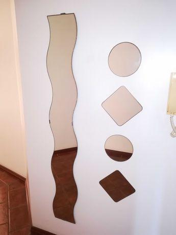 Conjunto de espelhos de parede