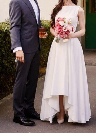 Szyjemy Sukienki Madeline suknia ślubna ecru plecy koronka 34/36