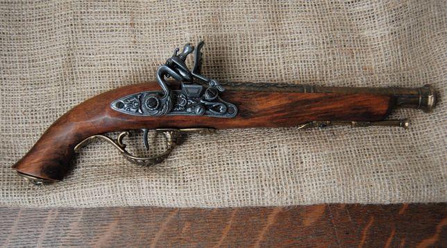 Balestra Włochy, pistolet włoski skałkowy, replika