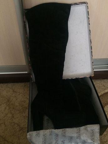 Ботфорты замшевые 38 размер