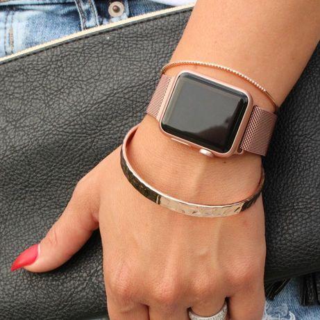 ROSE GOLD 42 44mm pulseira bracelete apple watch iwatch relógio SE 6 5