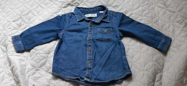 Koszula chłopięca jeansowa 68.