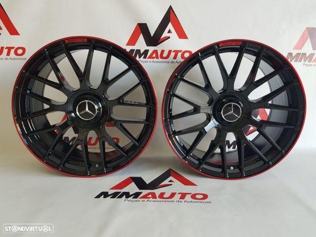 Jantes Mercedes C63S Black Red 19