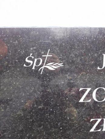 Liternictwo nagrobne, dopisywanie liter na cmentarzu,piaskowanie kucie