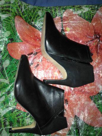 Ботильоны ботинки полусапожки кожаные новые женские 36
