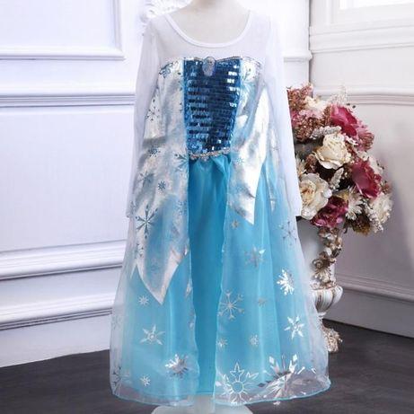 Новогоднее платье Эльзы Frozen карнавальный костюм