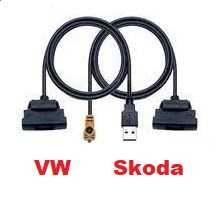 USB адаптер подключения к автомагнитоле Skoda VAG BMW KIA
