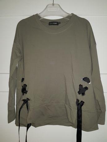 Bluza bluzka kokardki 40 42 zielen