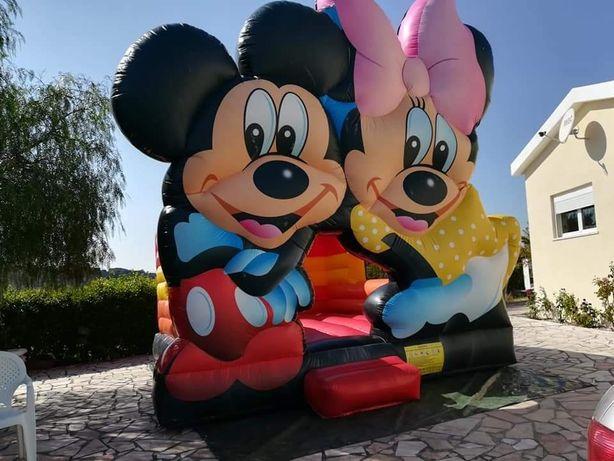 Insuflável  Profissional Mickey e  Minnie