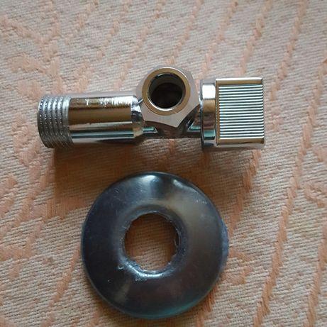 Новый угловой кран для подключения шланга от смесителя