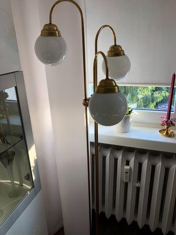 Komplet lamp z mosiądzu stojąca i wisząca lampa x 2 mosiężna