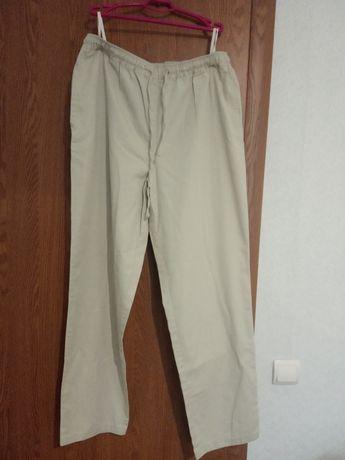 Жіночі штани/брюки+подарунок бриджі_бавовна/хлопок батал 50-52р.