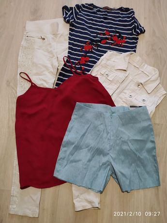 Вещи платье, майка, лосины, жилетка, шорты