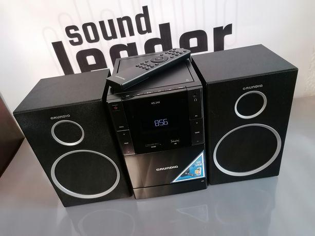 Grundig MS 240 miniwieża 60W odtwarzacz CD MP3 magnetofon kasetowy