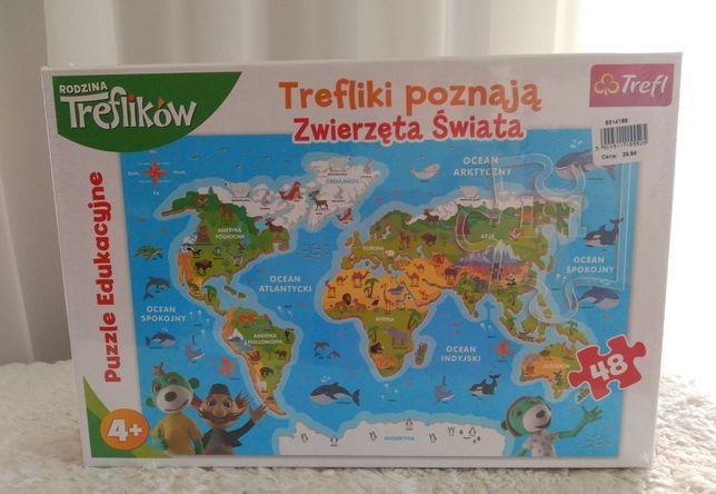 NOWE / Trefliki poznają zwierzęta świata / TREFL