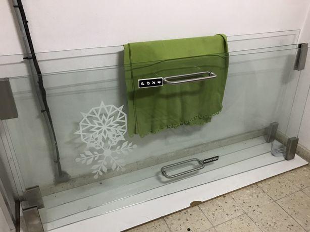 Porta de vidro 10mm 200x90 com ferragens