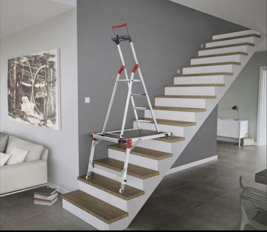 Patamar móvel para escadas
