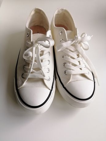 Białe sneakersy tenisówki Dorothy Perkins