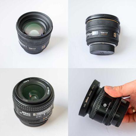 Комплект объективов для Nikon. Sigma 50mm f/1.4 и Nikkor 28mm f/2.8D