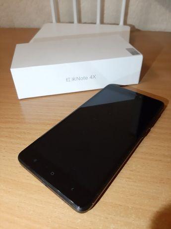Xiaomi Redmi Note 4x 3/32GB Black + 2 чехла + стекло