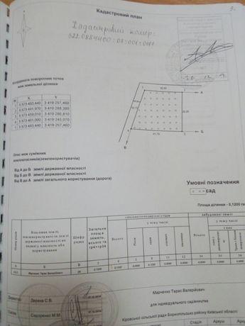 Продам земельный участок 12 соток под Борисполем