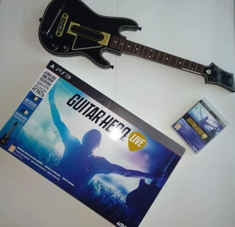 Guitar hero live ps3 jak Nowe + gitara!