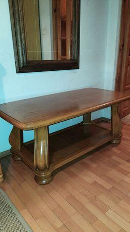 Stary dębowy stolik kawowy