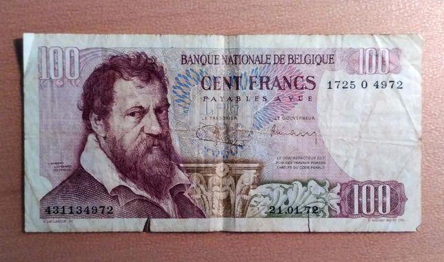 Vendo nota 100 francos banco nacional belgica