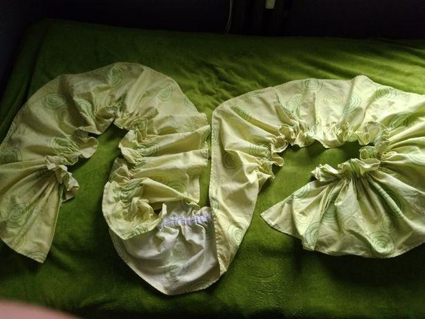 Zasłona lambrekin zielona dł. 35 cm szer. 230 cm + poszewki