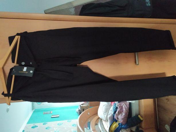 Spodnie z wysokim stanem 4xl