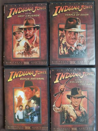 Indiana Jones DVD 1-4 plus bonus. Stan bardzo dobry.