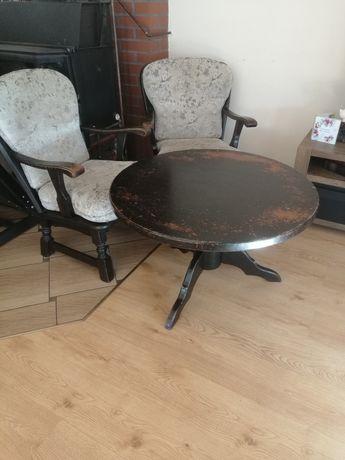 Stół plus dwa krzesła (fotele)