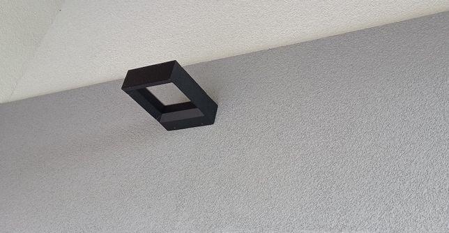lampa elewacyjna zewnętrzna czarna nowoczesna góra-dół