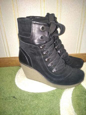 Зимние сапоги ботиночки замш