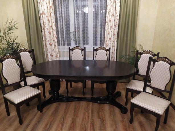 Стол и стулья набор( комплект) Стіл Стільці для вітальні