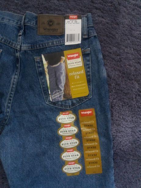 nowe jeansy Wrangler z metkami 31x32 Możliwość wysyłki paczkomatem