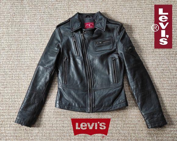LEVI'S женская косуха кожаная куртка Оригинал размер S-M