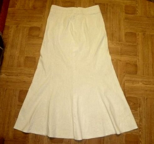 Натуральная льняная длинная юбка макси в пол Per Una Marks&Spencer